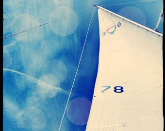 Sailing Photography, Sailboat Photography, Gift Idea Men, Nautical Decor, Large Sailing Art, Beach Wall Decor