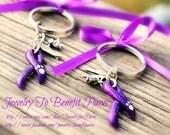 Purple Ribbon key chains