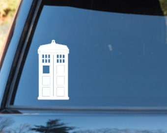 Tardis Doctor Who inspired car decal