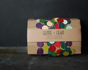 25' Paper & Thread Garland: Glitter + Grain Mix