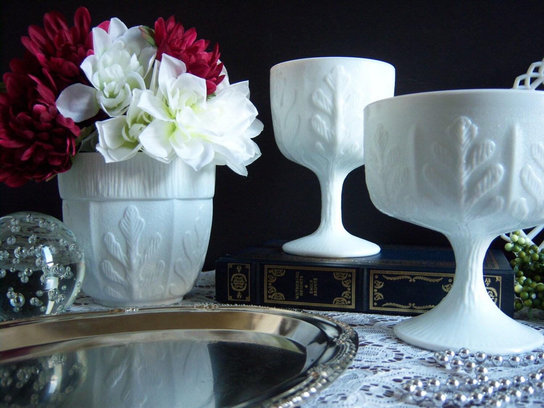 white milk glass vases milk glass compote wedding milk. Black Bedroom Furniture Sets. Home Design Ideas