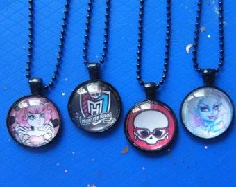 Monster Pendants! Monster Teen, or, Skull, Glass Case, Pendants! Girls Gifts, T'ween Gifts, Teen Gifts, Birthday Gifts, Christmas Gifts