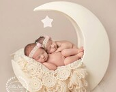 Newborn Baby Blanket,  Cream, Lace Blanket, Photo Prop