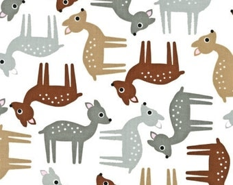 Nursing Pillow Cover- Woodland Deer with Minky Boppy Cover - Gray, Brown, Tan, Fawn, Ready to Ship