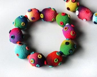 Polymer Clay Bracelet Stomas