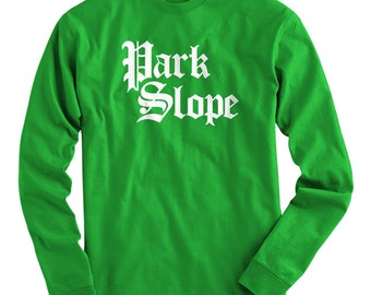 LS Park Slope T-shirt - Gothic Brooklyn Long Sleeve Tee - Men and Kids - S M L XL 2x 3x 4x - Brooklyn T-shirt - 4 Colors