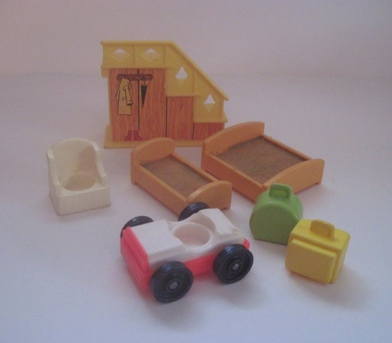 Vintage Fisher Price Little People Furniture Pieces