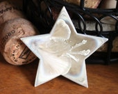 Handmade Ceramic Pin Brooch - Cream Crystal Crystalline Glaze - Iridescent Porcelain Star Pin OOAK Jewelry Unique Gift