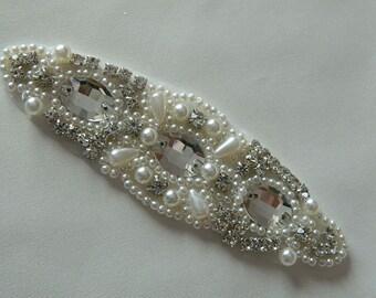 Pearl And Rhinestone Applique  Crystal Applique Model:DSCN2316