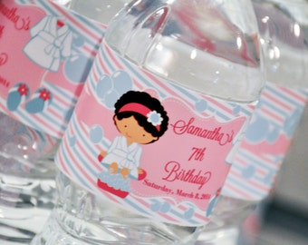 Customized Spa Water Bottle Labels - Printable - GLAMOROUS SWEET EVENTS