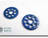 Blue Enameled Gears