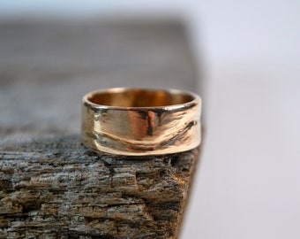 Mens Wedding Band - Mens Wedding Ring - 14K Gold Mens Wedding Band - Mens Gold Wedding Ring - Mens Rings