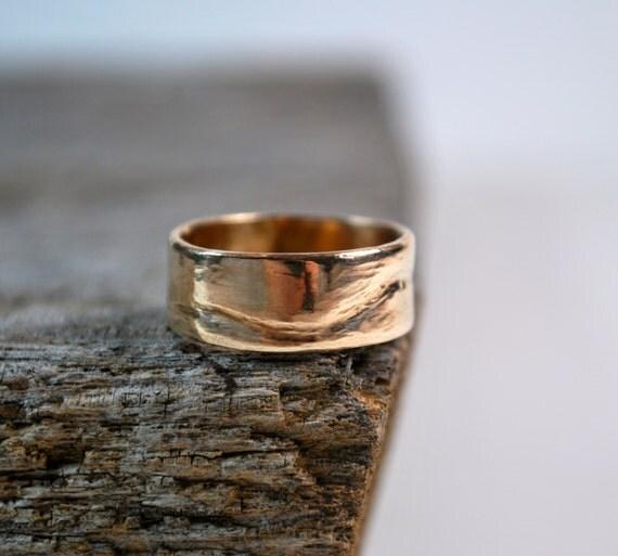 Mens Wedding Band - Mens Wedding Ring - 14K Gold Mens Wedding Band - Mens Gold Wedding Ring - Mens Rings