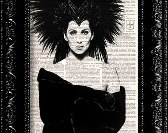 Cher - Vintage Dictionary Print Vintage Book Print Antique Book Page Art Upcycled Vintage Book Art