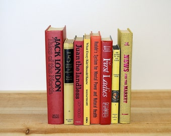 Colorful VIBRANT Vintage Book Collection Home Decor Vintage Reading