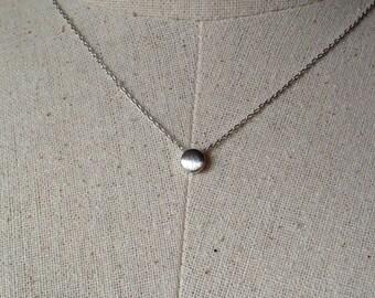 Silver Dot Necklace, Dainty Necklace, Tiny Dot Necklace