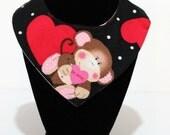 Monkey Love Valentines Day Reversible Dog / Pet Bandanas