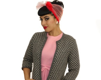 Vintage 1950s Cardigan /  50s Sweater / Vintage 50s Bolero Cardigan