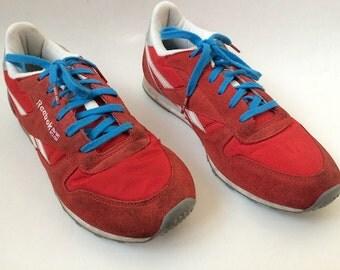 Vintage Red & Teal Reebok Sneakers 9.5
