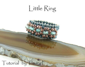 Little Ring  beadwoven tutorial, diy, ring pattern