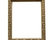 Vintage American Wood Picture Frame with Vine and Leaf Design Relief Detail and Off-White Paint  C1910 - for 11 x 14 artwork - Cottage Chic