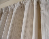 Custom Window Treatments Drapery  Curtain Panels Lined Woodgrain Grey Colorblock or in any PREMIUM designer fabric