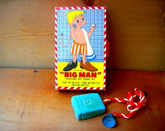 Vintage toy soap on a rope razor