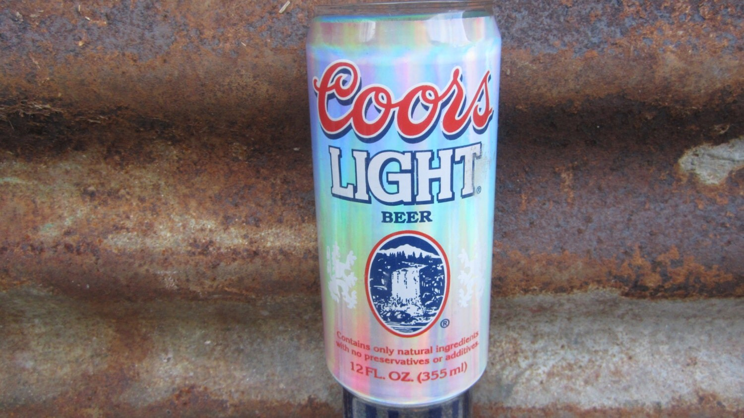 Vintage Beer Tap Coors Light With Glitter Iridescent Rainbow