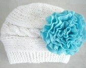 Baby Girl Hats, Knit Baby Girl Hats, Baby Hat, Knit Baby Hat, Girls Hats, Newborn Baby Hats