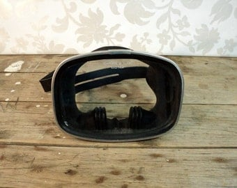 Vintage Divers Mask, Exotica, Stainless frame, tempered glass, divers, diving mask, scuba gear