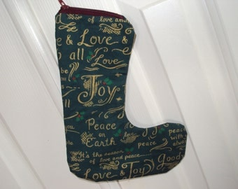 Sock it Away Christmas gift Stocking, gift cards, place card settings, Green Tis the Season--plan a stocking hunt party