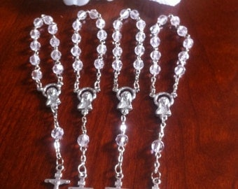 30 pcs  First communion favors / Mini  Rosary Baptism Favors / Baptism favors / Religious Mini Rosary /wholesale minirosaries,NARELO