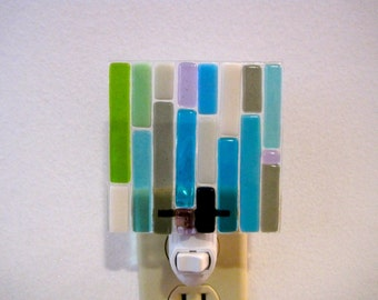 Seaside Fused Glass Night Light