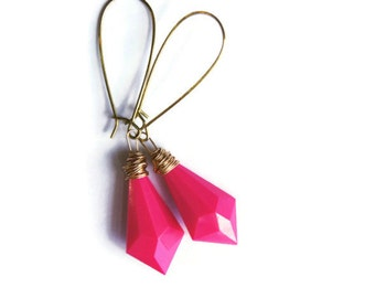 Hot Pink Earring