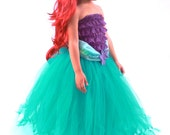 Tutu Skirt - Made to Order -Teal - Mermaid Halloween or Birthday Costume - Tidal Wave Teaser - 12 Month  - 2 Toddler Girl