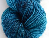"Sport Weight, ""Peacock""  Merino Wool Yarn, 4 oz,  superwash yarn"