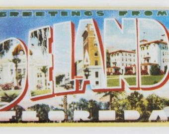 Greetings from Deland Florida Fridge Magnet
