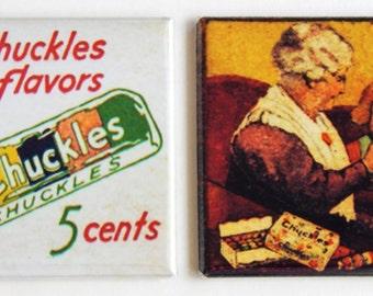 Chuckles Fruit Slice Candy Fridge Magnet Set
