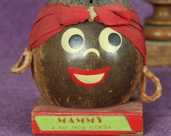 Mammy Piggy Bank, A Nut From Florida Bank, Black Americana