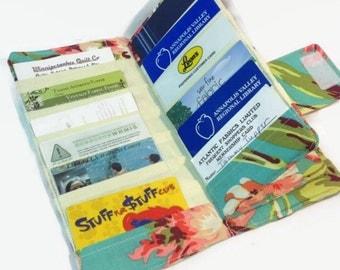Credit Card Holder, Credit Card Organizer, Credit Card Wallet, Women's Card Wallet,  Floral,  Flower Wallet, Wallets for Women