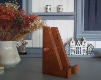 Arts & Craft Mission Style Plate-Tile- Photo Display Easel Cherry Wood Handcrafted/Handmade
