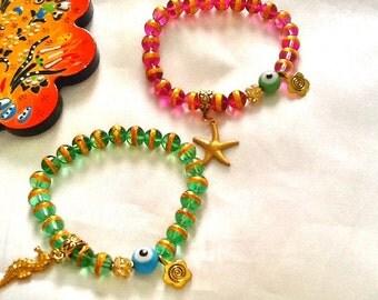 SALE -- COTE D'AZUR - Beach Inspired Bohemian Bracelets - Mediterranean Style Jewelry