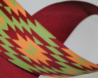 "1.5"" Southwest Style Printed Grosgrain"