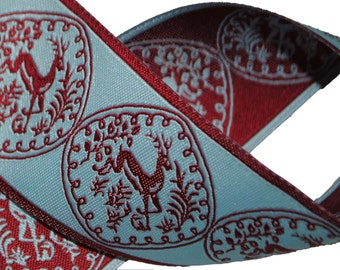 Reindeer Jacquard Trim 1.5 inches wide