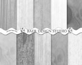 Digital Paper Wood, Gray Digital Paper, Grey Woodgrain Digital Paper, Digital Backgrounds, Scrapbook Backgrounds, #14120B