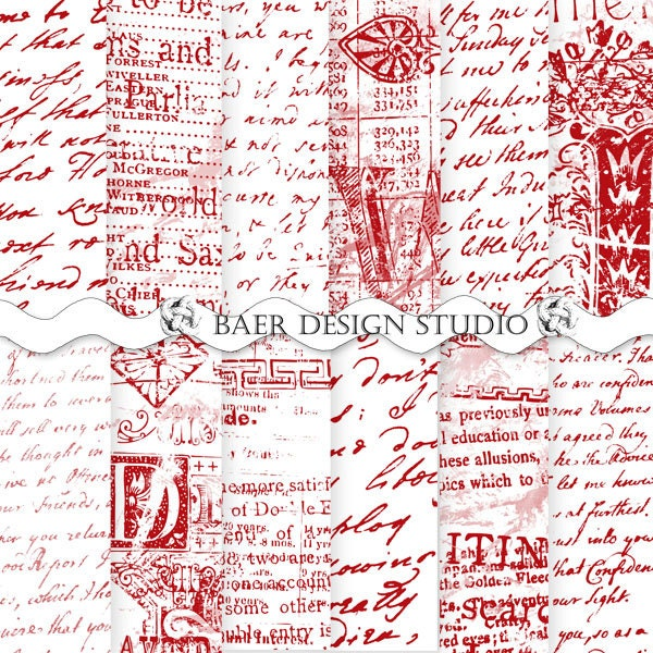 french script paper – OnePaperHeart – Stationary & Invitations