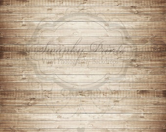 12ft x 10ft Vinyl Photography Backdrop - Brown Washed Wood / Custom Photo Prop