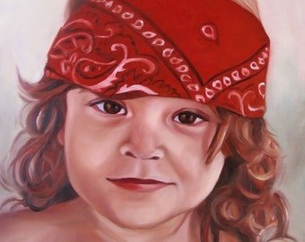 CUSTOM PORTRAIT  - Oil Painting -Best Gift - 11x14