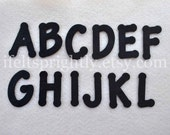 26 Piece Die Cut Felt Alphabet, Upper and Lower Case and Numbers, Your Choice
