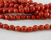 Red Sponge Coral 12mm natural rounds full strand